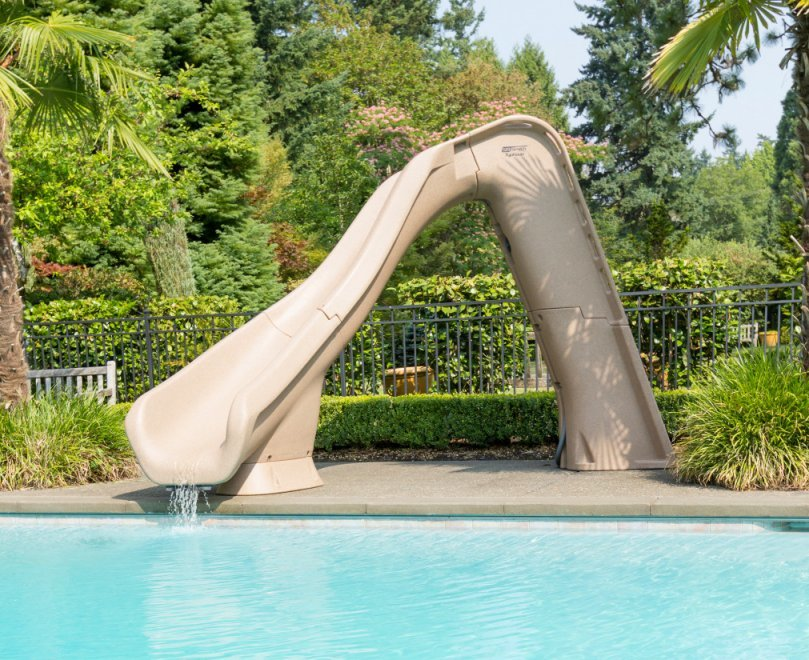 Swimming pool water slides Orange County